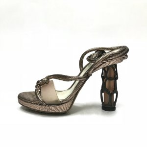 Fendi High-Heeled Sandals gold-colored