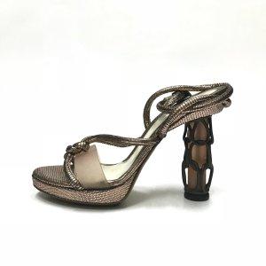 Gold Fendi High Heel