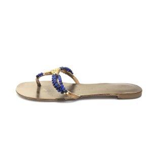 Gold Giuseppe Zanotti Flip Flop