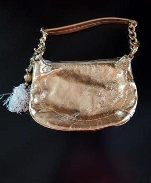 gold glänzende Handtasche, made in Italy