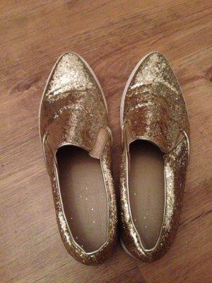 Gold glitzer Schuhe