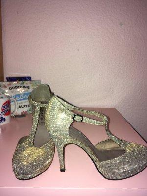 Gold glitzernde high heels Größe 40