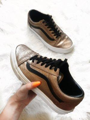Gold Glitzernde Vans