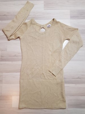 Gold glitzernder Long Pullover