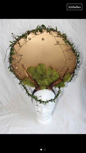 Gold grünes Headpiece / Kopfschmuck