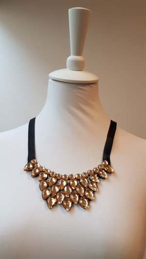 Necklace sand brown recycled material
