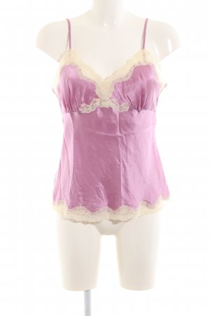 Gold Hawk Silk Top pink-cream elegant