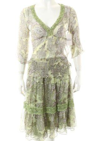 Gold Hawk Twin set verde-verde chiaro motivo floreale stile Gypsy