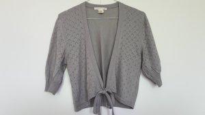 Bolero lavorato a maglia grigio chiaro-grigio Seta