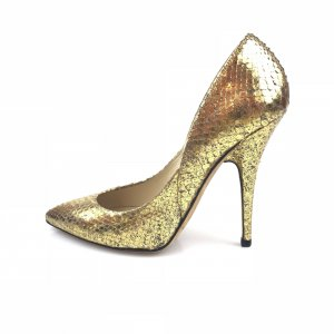 Gold Jimmy Choo High Heel