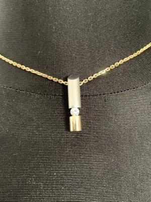 Gouden ketting goud-zilver