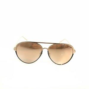 Gold Linda Farrow Sunglasses