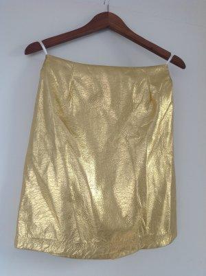 Gold- Minirock mit Futter