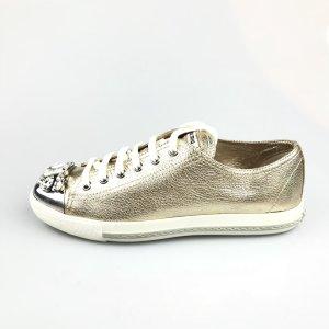 Gold Miu Miu Sneaker