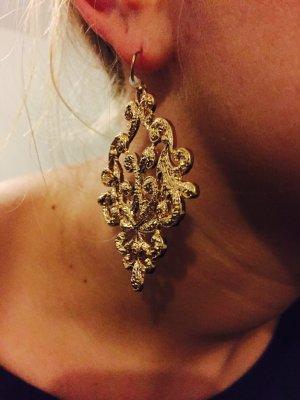 Gold Modeschmuck Ohrringe Barock