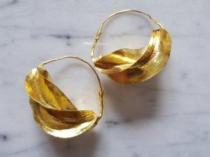 Gold Ohrringe Creolen groß big Statement