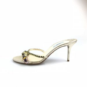 Gold Prada Flip Flop