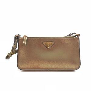 Gold Prada Shoulder Bag