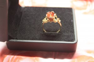 Gold Ring 333er Rose Vintage Gr. 60