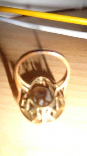Gold Ring bronze-colored-light brown real gold