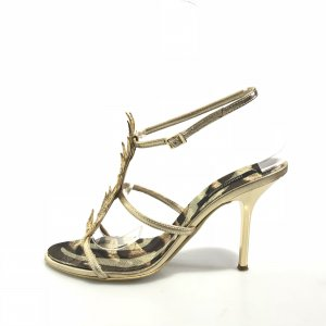 Roberto Cavalli High-Heeled Sandals gold-colored