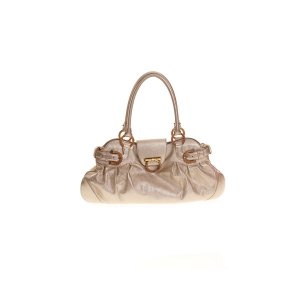 Gold Salvatore Ferragamo Shoulder Bag