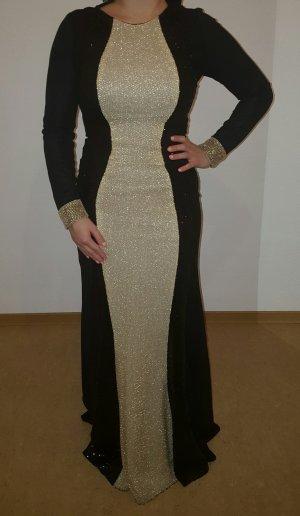Gold/Schwarz Abendkleid