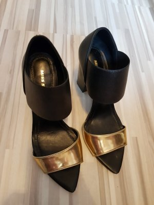 Miss Sixty Strapped pumps black-gold-colored