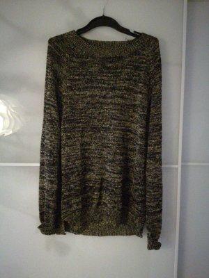 Gold-Schwarzer Pullover Gr. 38