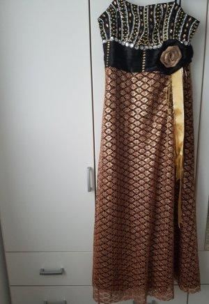 Gold- Schwarzes Abendkleid