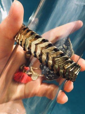 Gold-Schwarzes Armband