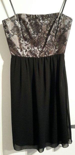 Gold-Schwarzes Cocktailkleid-Kleid mit Spitze von ZERO (38)
