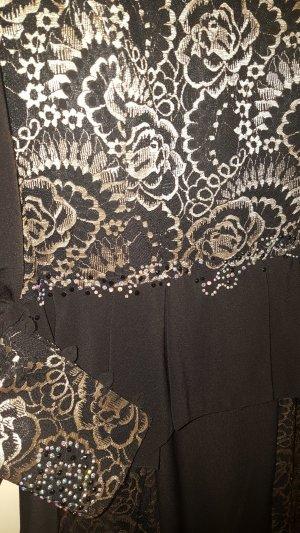 Gold / Schwarzes Figurbetontes Abendkleid