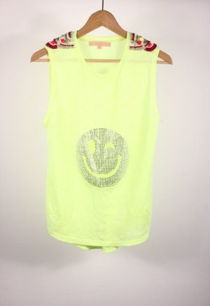 Strappy Top neon yellow mixture fibre
