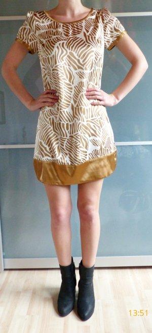 gold-weißes Minikleid im A-Achnitt von Vero Moda Größe M