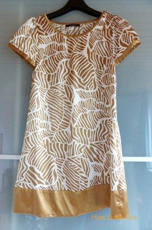 gold-weißes Minikleid im A-Schnitt von Vero Moda Größe M