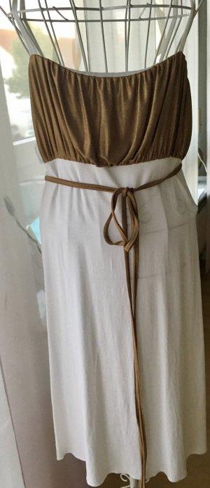 Gold/weißes Sommerkleid
