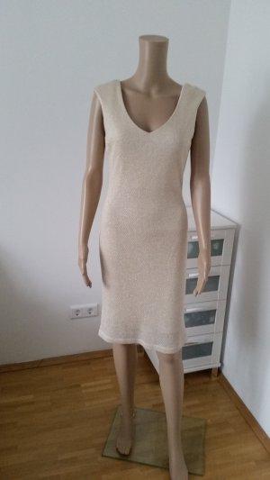 Gold weißes Stretch Kleid von Mia in L