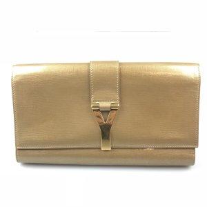 Gold Yves Saint Laurent Clutch