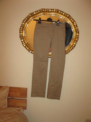 Goldbeige-Silber Set: Hose (Mango)+ passende Bluse+ passende Rollkragenpulli, D34-36