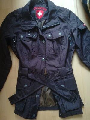 Goldbraun schimmernde WELLENSTEYN Jacke, taillierter Schnitt, wenig getragen, Wasserabweisend