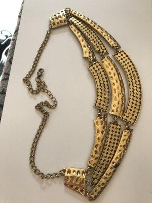 Collar estilo collier color bronce-marrón arena cupro