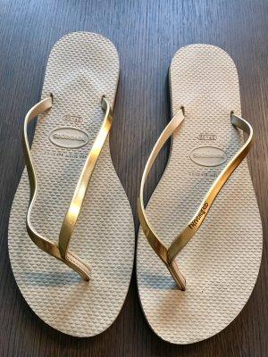 Golden Flip Flops