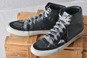 GOLDEN GOOSE 37 GGDB Hightop Superstar 2.12 Schwarz used Leder Sneakers Skater