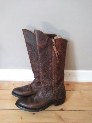 Golden Goose Western Boots cognac-coloured