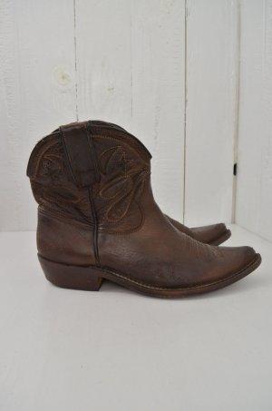 GOLDEN GOOSE Damen Cowboyboots Boots Stiefelette Cowboy Braun Leder Gr.37