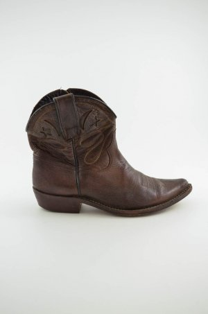 Golden Goose Western Booties brown leather