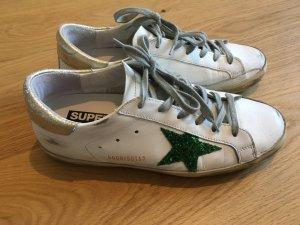 Golden Goose Deluxe Brand Sneaker in weiß/grün/gold (Größe 38):