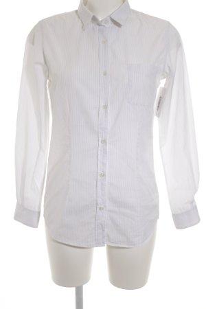 Golden Goose Hemd-Bluse weiß-hellgrau Streifenmuster Casual-Look
