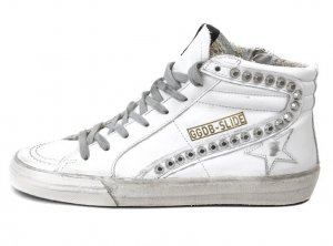 Golden Goose Slide High Sneaker Nieten used Gr. 39 nagelneu